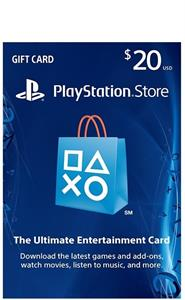 SONY PlayStation Store 20$ Gift Card
